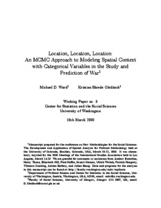 Location, Location, Location: An MCMC Approach to Modeling