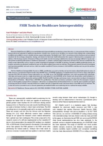 FHIR Tools for Healthcare Interoperability - Research Repository
